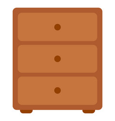 chest drawers wooden commode image vector image