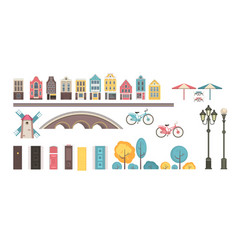 collection building elements vector image