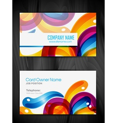colorful business card template vector image