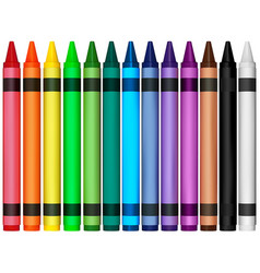 Colorful wax crayons vector