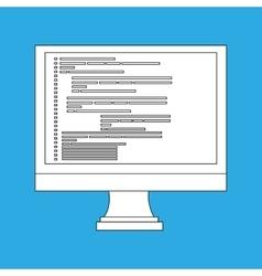 computer programming design vector image