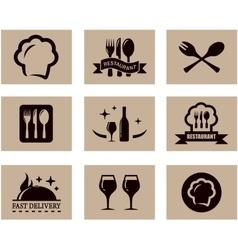 Concept restaurant menu set vector