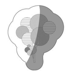 contour stamp tree art icon vector image