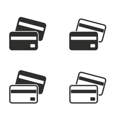 Credit card icon set vector