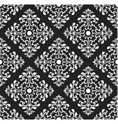 damask pattern background vector image