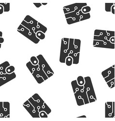 digital wallet icon seamless pattern background vector image
