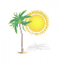Dot style tropics vector