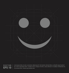 emoji icon - black creative background vector image
