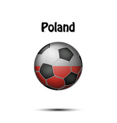 flag of poland in the form of a soccer ball vector image