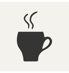 Flat in black and white mobile application cofee vector image vector image