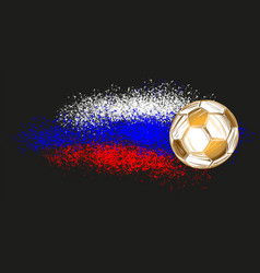 football soccer ball russian flag sports game vector image