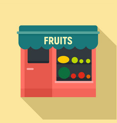 Fruits street shop icon flat style vector