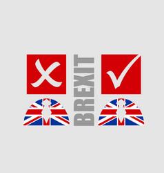Great briitain leaves european union referendum vector