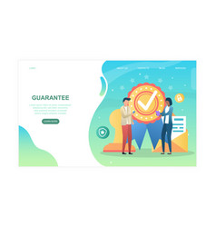 guarantee abstract concept with male and female vector image