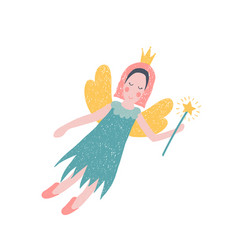 hand drawn fairy vector image