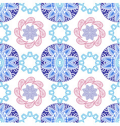 hand drawn geometric abstract seamless pattern vector image