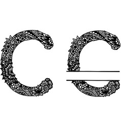 Hand drawn letter c vector
