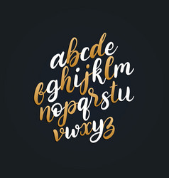hand lettering alphabetcalligraphy font vector image