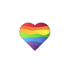 heart shape in lgbt rainbow colors vector image
