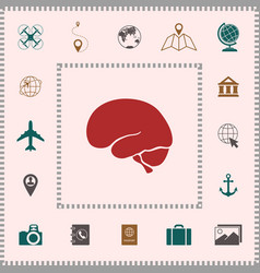 human brain icon elements for your design vector image