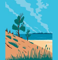 Indiana dunes national park in northwestern vector