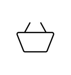 line market basket icon on white background vector image