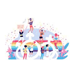 Love parade rainbow lgbtq pride activism vector