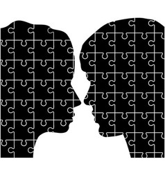 Man and woman puzzles vector