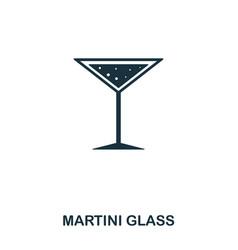 martini glass icon line style icon design ui vector image