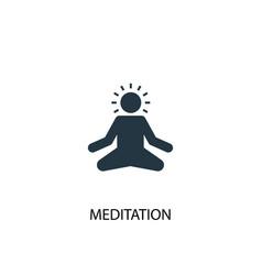 Meditation icon simple element vector