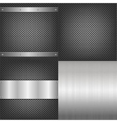 Metal And Aluminum Backgrounds Set vector