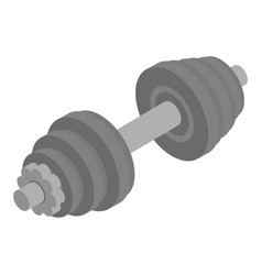 Metal dumbbell icon isometric style vector