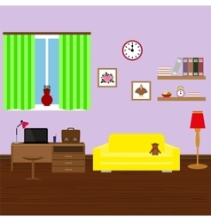 Modern stylish interior room vector image