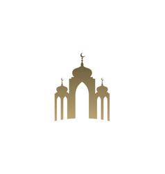 mosque simple icon logo design mosque moslem vector image