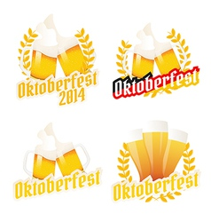 Oktoberfest labels badges and menu elements vector image