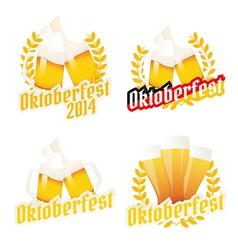 Oktoberfest labels badges and menu elements vector image vector image