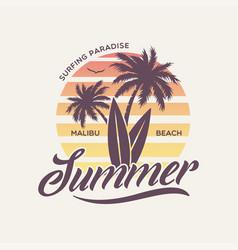 Palm beach florida stylish graphic t-shirt vector
