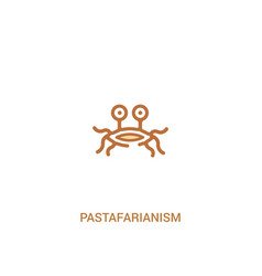Pastafarianism concept 2 colored icon simple line vector