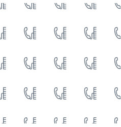 phone icon pattern seamless white background vector image