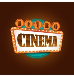 Retro theater cinema sign banner vector
