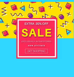 sale banner for online shopping with discount vector image