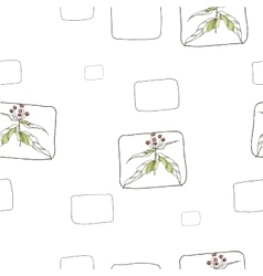 Seamless patterns with vegetative elements vector
