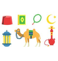 Set national symbols turkey vector