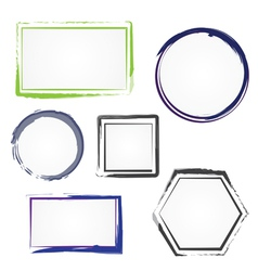 Set painted frames vector