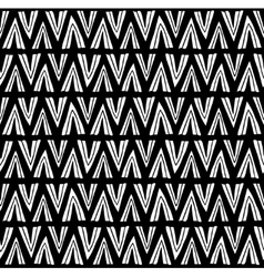 Simple black and white pattern with hand drawn vector