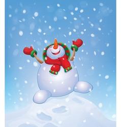 Snowman jump vector