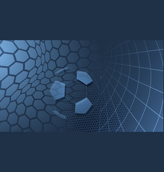 soccer background in light blue colors vector image