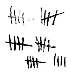 tally marks vector image