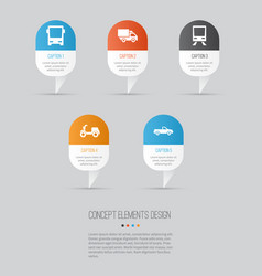 transport icons set collection of skooter vector image