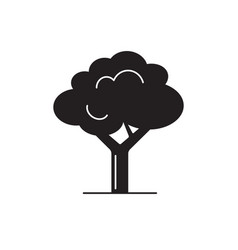 tree silhouette icon in flat style vector image